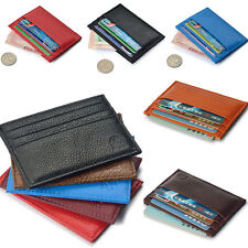 New Men's Womens Leather ID Credit Card Wallet Holder Slim Pocket Case Purse