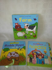 BUNDLE OF USBORNE BOOKS PRE SCHOOL PLAY, LOOK & SAY AND TOUCHY FEELY - NEW