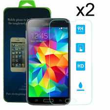 2X Real Tempered Gorilla Glass Screen Protector for Galaxy S5 G900A G900P G900T