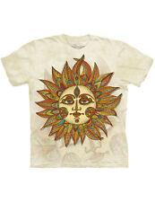 NEW NWT Helios Iconic Sun-face, Colorful Celestial Symbol T-Shirt