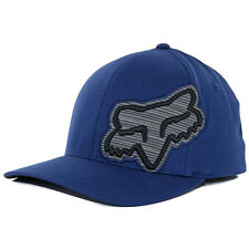 "Fox Head Racing ""Elmond"" FlexFit Hat (Indigo) Men's Blue Moto Stretch Cap"