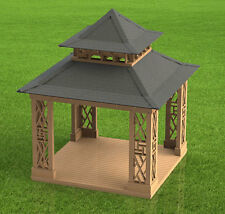 Pagoda Style Gazebo Paper Building Plans - Plans only - Not Complete Gazebo