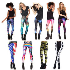 New Women Colorful Digital Printing Leggings Stretchy Sexy Jeggings Pants PY