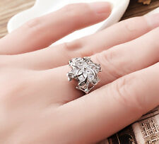 Sz5-10 Nenya Ring 925 Solid Silver CZ Lord of the Ring Women's Ring Film Jewelry