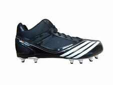 New adidas SM Scorch Thrill Fly Mid Football Cleats G24587 (Black/Running White)