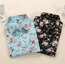 Blouses Floral Turn Down Long Sleeve Shirt Blouse Tops Blouses Collar
