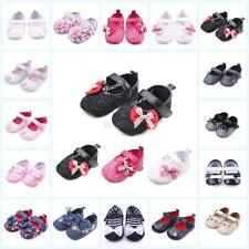 Baby Girls Infant Bowknot Shoes PU Leather Floral Shoes Princess Walking Shoes