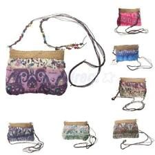 Womens Beach Small Shoulder Cross Body Bag Ethnic Straw Handbag Messenger Purse