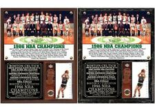 Boston Celtics 1986 NBA Champions Photo Card Plaque Larry Bird MVP