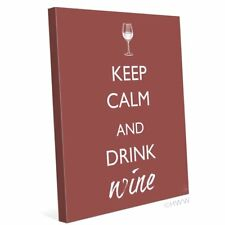 Click Wall Art Keep Calm And Drink Wine Textual Art on Wrapped Canvas