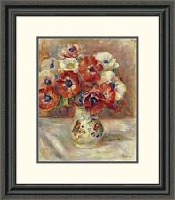 'Still Life with Anemones' by Pierre-Auguste Renoir Framed Painting Print