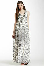 BRAND NEW w/Tags French Connection FCUK Mustique Silk Tile Print Maxi Dress Sz 6