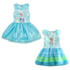 Toddlers Girls Kids Baby Princess Queen Cartoon Tulle Top Dress Tutu Party Gown