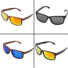 Fashion Sports Sunglasses Wooden Square Frame Shades Outdoor Eyewear PY