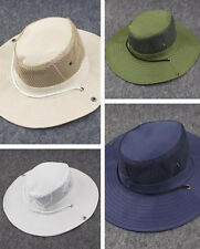 Wide Brim Men Sun Protection Fishing Cap Outdoor Camping Boonie Bucket Hat