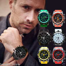 Luxury Unisex Mens Sport Watch Silicone Band Casual Analog Quartz Wrist Watches