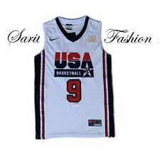 Michael Jordan Jersey 1992 USA Olympic Dream Team Basketball Stiched #9 White