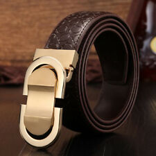 Men Genuine Leather Belt Designer Belt Leique Texture Ratchet Belt Smooth Buckle