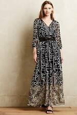 NEW Anthropologie Moulinette Soeurs Equinox Pleated Maxi Dress Size 0 2 4