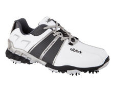 Niblick Mens Golf Shoes Dunes Plus White/Black NIBLICK