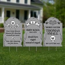 Halloween Party Decorations Haunted Tombstone Yard Signs Spooky Creepy Scary