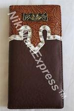Faux Leather Western Checkbook Rodeo Budded Wallet Cast 2 Mudflag  Girls Concho
