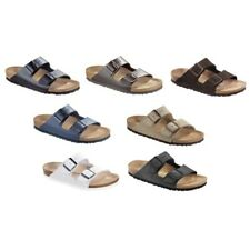 Birkenstock Arizona Leather Sandals - black white brown - Made in Germany
