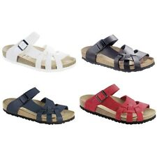 Birkenstock Pisa Birko-Flor or Leather sandals - white blue black red