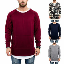 Phoenix Crewneck Sweater Men's Hoodie Long Round Camouflage Oversize Sweater