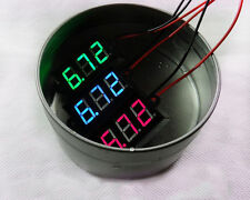 "DC 3.5-30V 0.56"" Waterproof Digital LED Voltmeter Volt Meter Panel Mount 12V 24V"