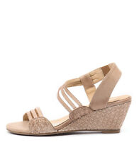 New Gamins Cruise Latte Leather Women Shoes Casuals Sandals Wedges