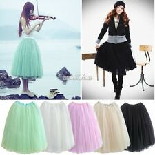Fashion Womens Princess Fairy Style 5 layers Tulle Bouffant Skirt Dress Summer