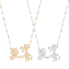 Silver Gold Plated Little Red Riding Hood Wolf Necklace Pendant in Gift Bag/Box