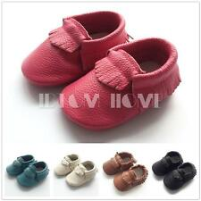 Baby Girl Boys Toddler Shoes Genuine Leather Soft Sole Prewalker Infant Trainers