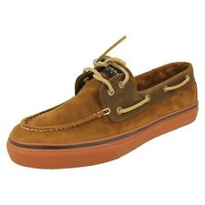 Mens Sperry Boat Shoes Label Bahama Tan Suede -W