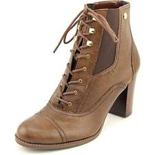 Tommy Hilfiger Felecia Women  Round Toe Leather Brown Ankle Boot