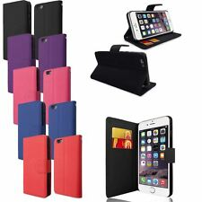 PU LEATHER SIDE OPENING WALLET FLIP STAND CASE COVER FOR IPHONE 6 PLUS 5.5""