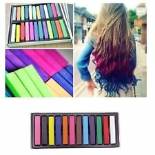 24 Colors Non-toxic Temporary Hair Chalk Dye Soft Pastels Salon Kit AU