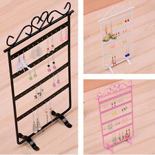 Fashion 48 Holes Metal Earrings Display Show Jewelry Rack Stand Organizer Holder