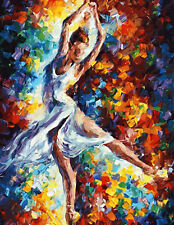 A Dancer In White Hand painted Design Needlepoint Canvas 243