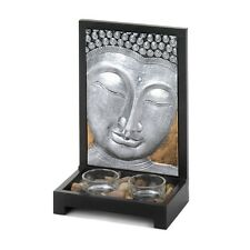 Buddha Portrait Plaque With Tealight Candle Holders Support