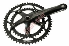LitePro 130mm BCD 53T/39T CNC Double Crank Crankset Black Red Logo LP