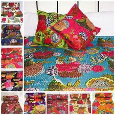 Indian Handmade Kantha Quilt Throw Reversible Bedspread Duvet Single Double New
