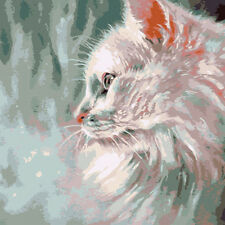 Portrait of a Persian Cat Needlepoint Canvas 496