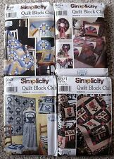 Choice of NIP Simplicity Quilt Block Club Pattern Bow Tie Star Cabin Sunbonnet