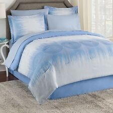 NEW Twin Full Queen King Bed Bag Blue Ombre Medallion 8 pc Comforter Sheet Set