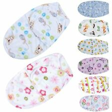 Baby Infant Swaddle Easy Wrap Thin Soft Blanket Arm Swaddling Sleeping Bag Cute