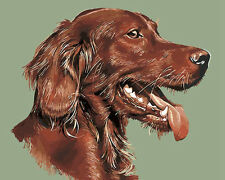 Vivid Portrait Of Brown Dog Needlepoint Canvas 284