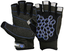 Sailing Gloves Short Finger Yachting Kayak Dinghy Fishing Glove Waterski BLK BLU
