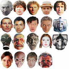 DOCTOR WHO CARD FACE MASKS - 17 CHOICES PLUS MULTIPACK OPTIONS - FREE SHIPPING!!